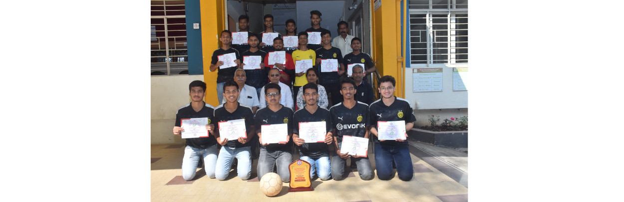 FOOTBALL TEAM RUNNER UP IN IEDSSA D1-ZONAL SPORTS EVENT 2019-20, PCPolytechnic