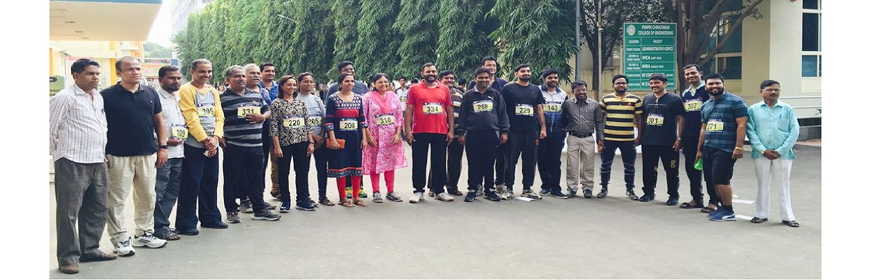 PCP Organized 'Mini Marathon run 2018' participated College staff.